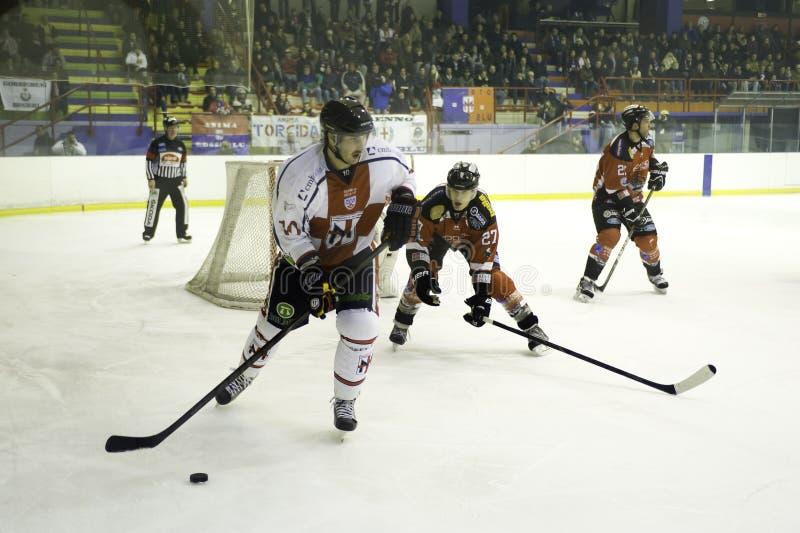 Hockey sobre hielo imagen de archivo