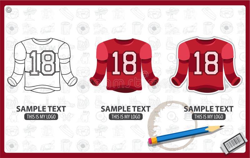 Hockey sobre hielo Jersey stock de ilustración