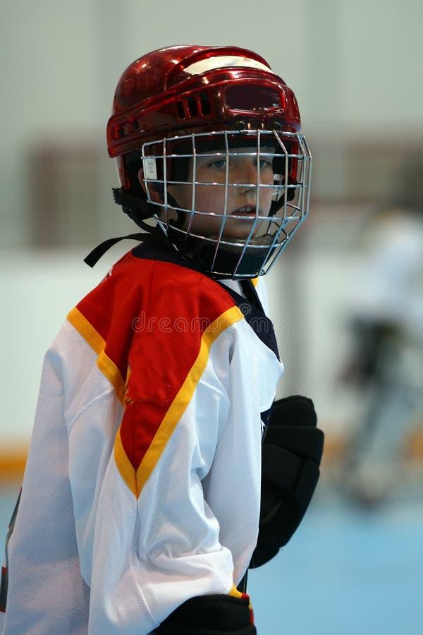 Hockey-Spieler stockbilder