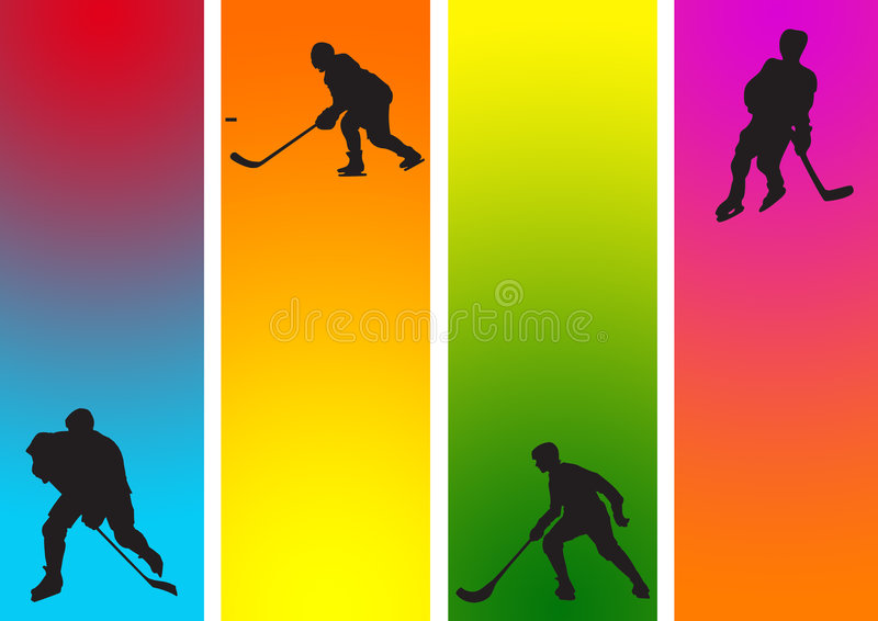 hockey Sporten   vector illustratie