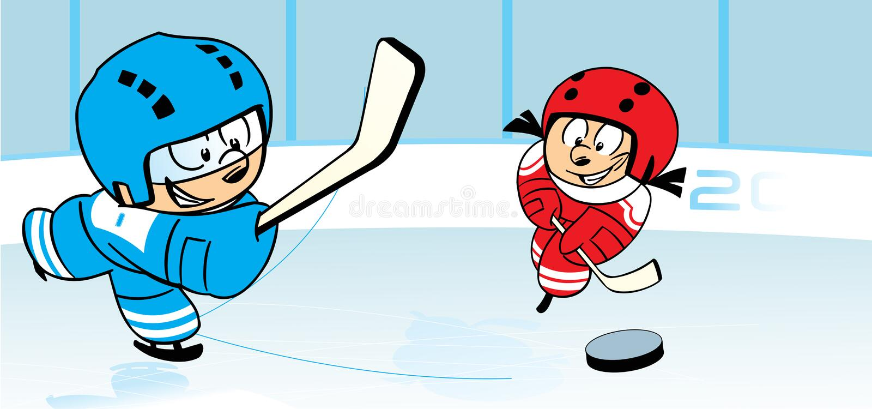 Hockey su ghiaccio illustrazione vettoriale