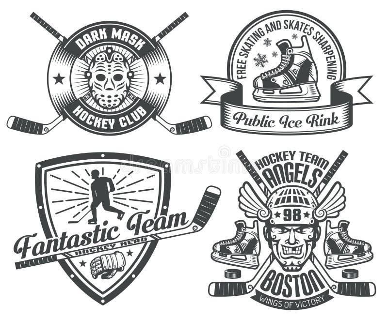 Hockey tattoos stock illustration