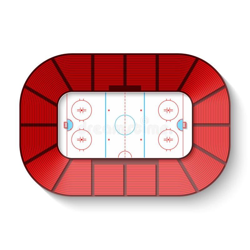 Hockeyarena royaltyfri illustrationer