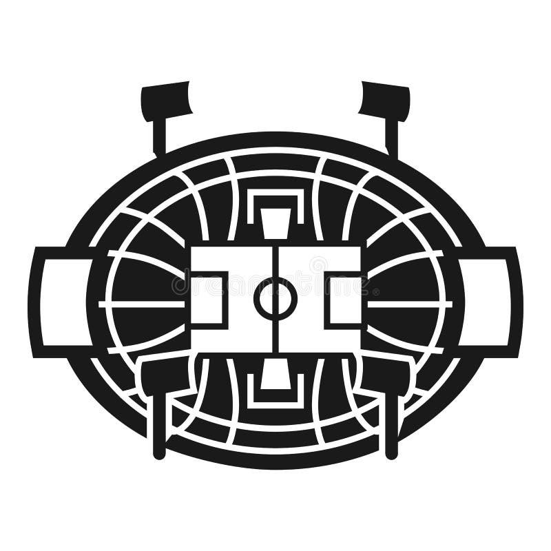 Hockeyarenasymbol, enkel stil royaltyfri illustrationer