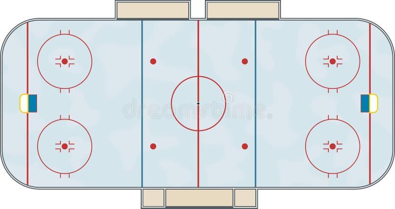Hockeyeisbahn stock abbildung