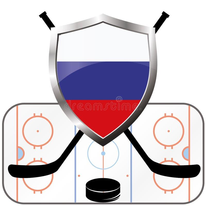 Hockeyembleem Canada versus Rusland royalty-vrije illustratie