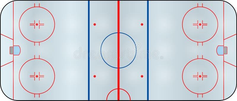 Hockeyfält stock illustrationer