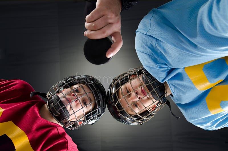 HockeyFaceoff royaltyfri fotografi