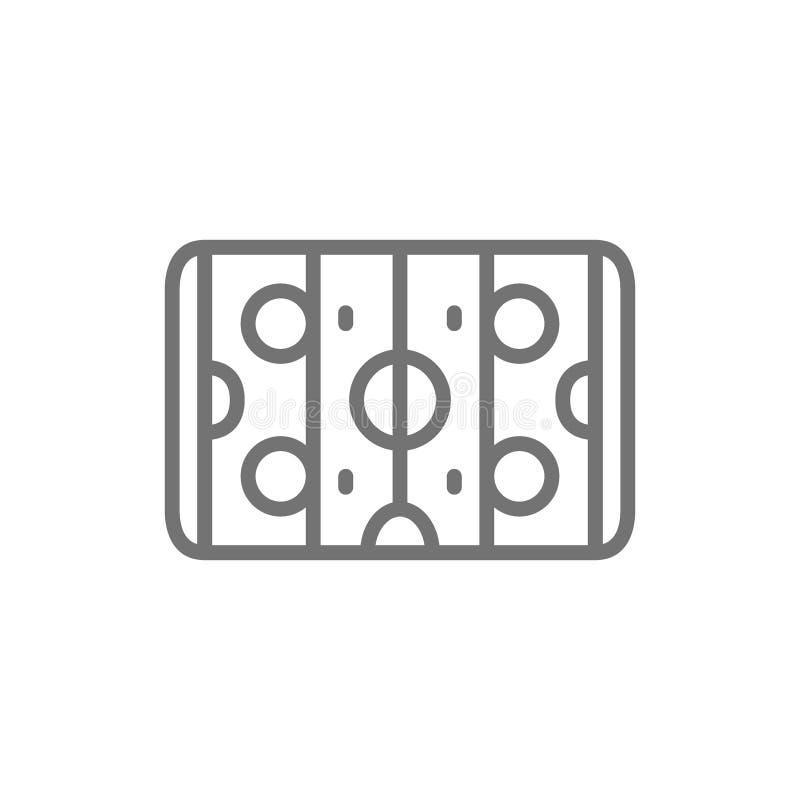 Hockeyfeld, Lufthockeylinie Ikone lizenzfreie abbildung