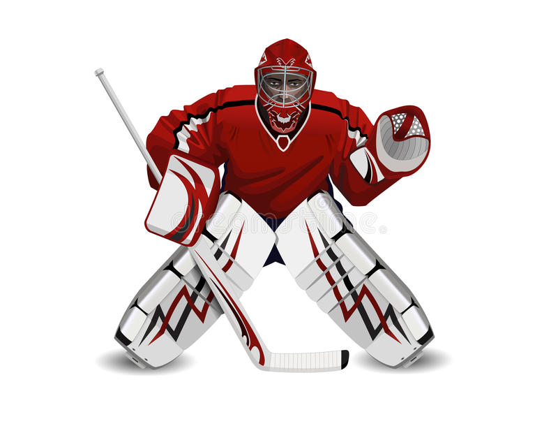 Hockeygoalie stock illustrationer