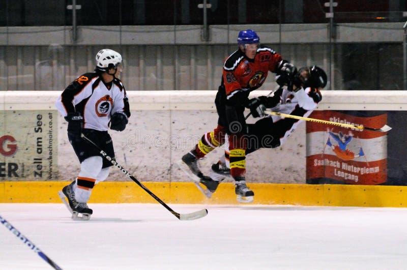 Hockeyhit lizenzfreie stockfotografie