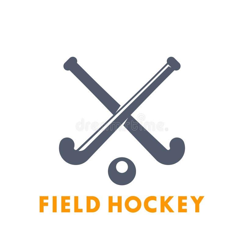 Hockeyikone, Logoelemente über Weiß stockfotografie