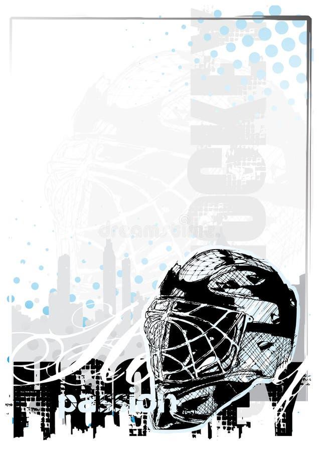 hockeyis för 2 bakgrund stock illustrationer