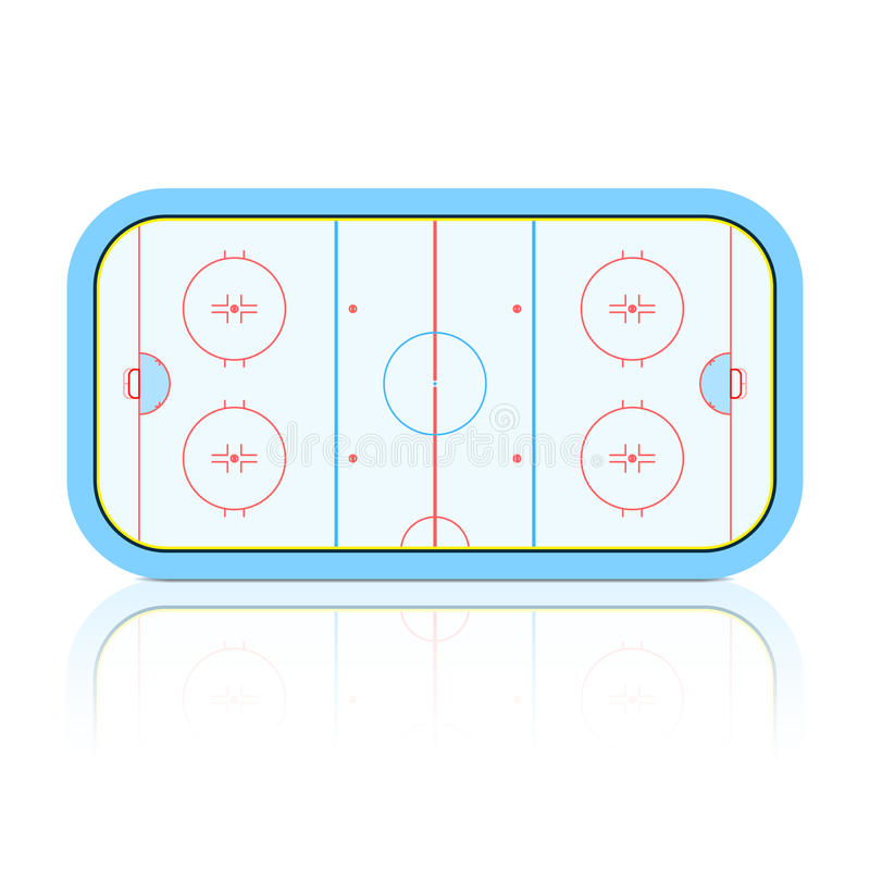 hockeyisbana stock illustrationer