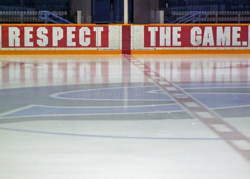 hockeyisbana arkivbilder