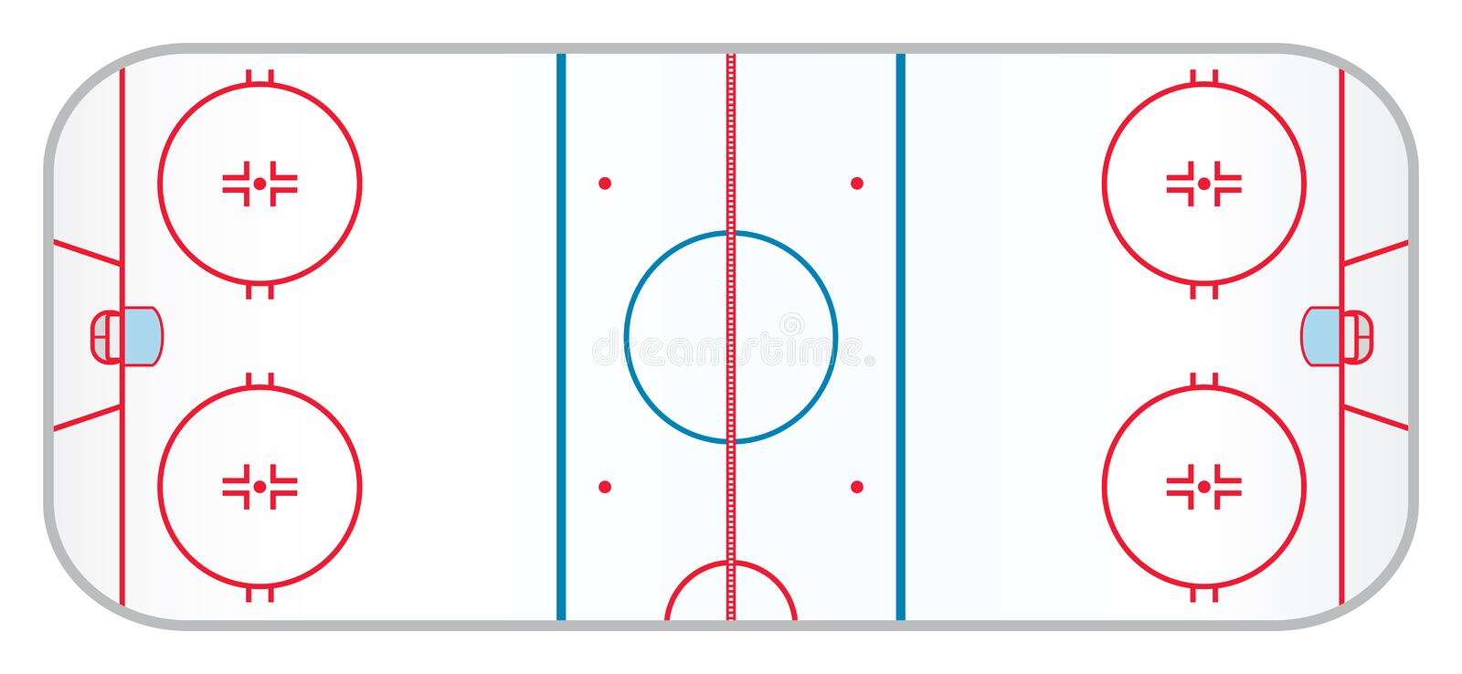 Hockeyisbana vektor illustrationer