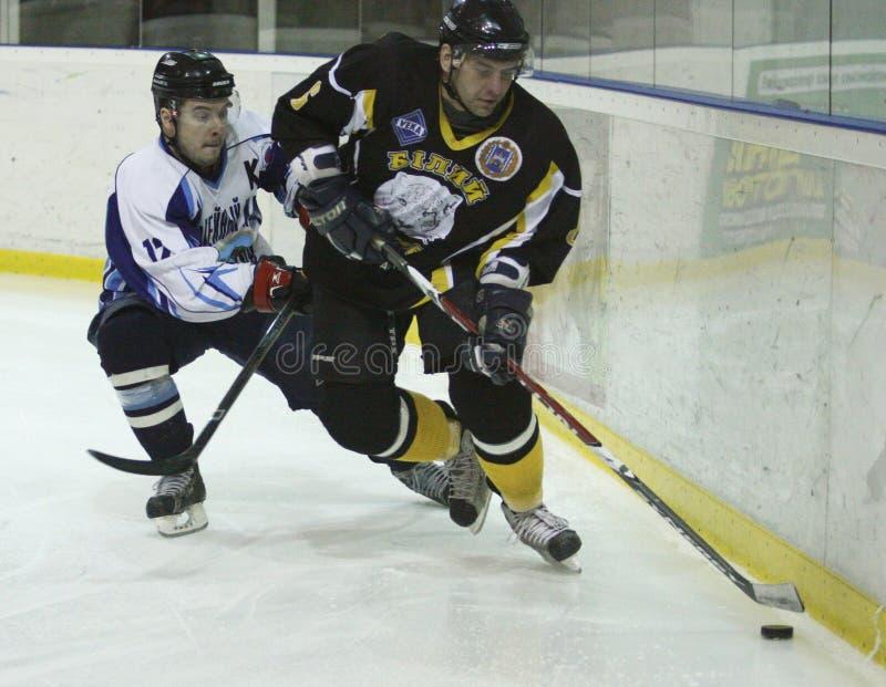 hockeyismatch royaltyfri foto