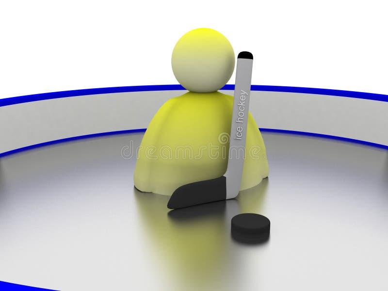 hockeyissymbol vektor illustrationer