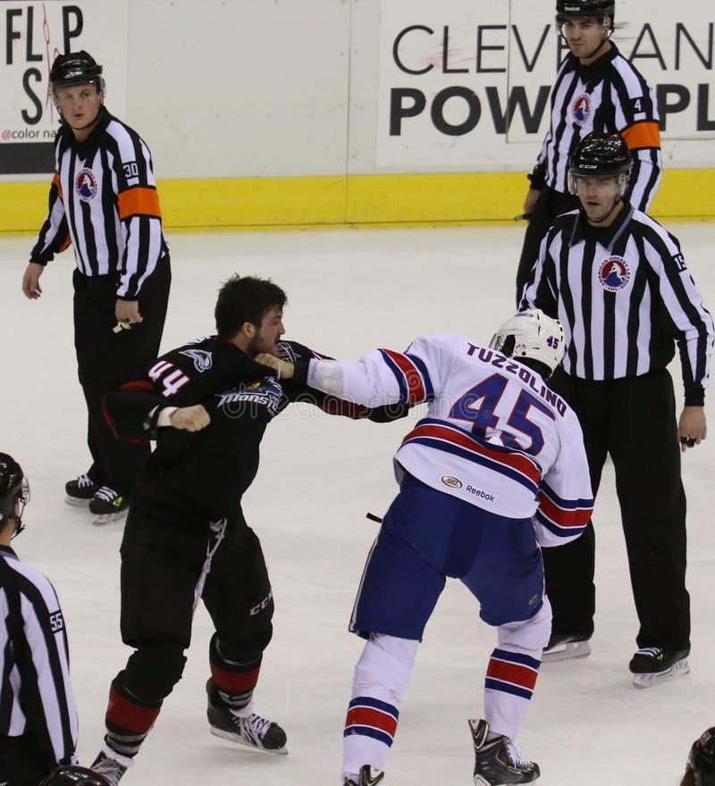 Hockeykamp royaltyfria bilder