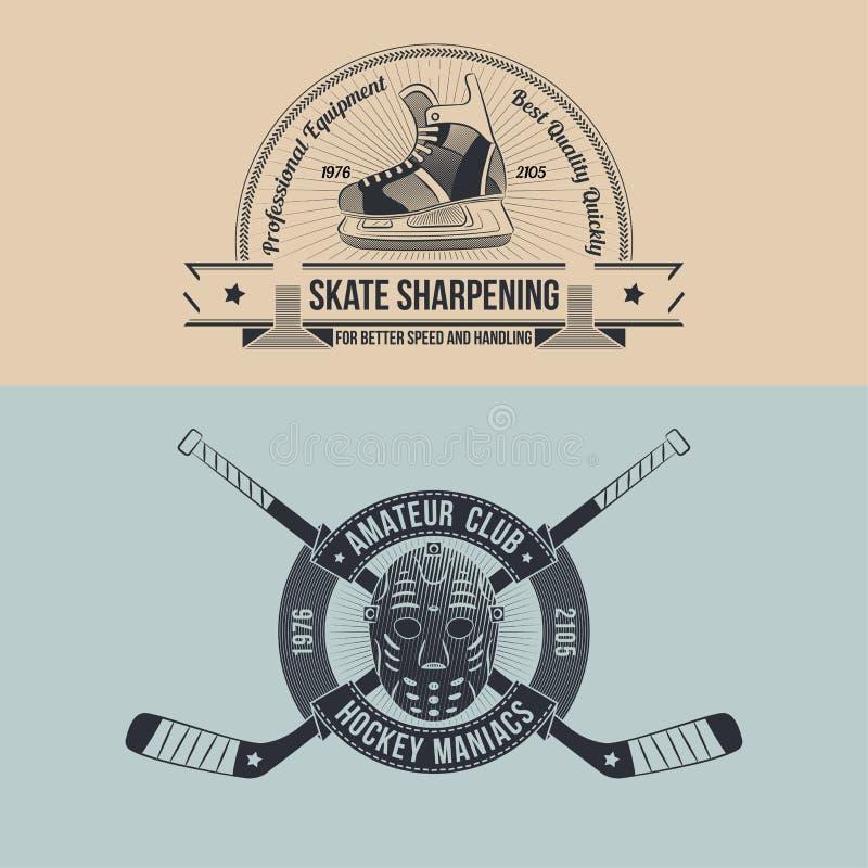 Hockeyklubba vektor illustrationer