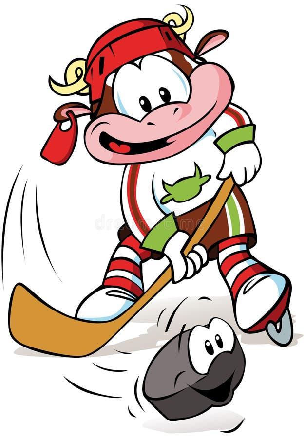 Hockeyko   royaltyfri illustrationer