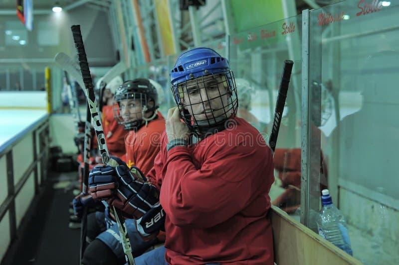 Hockeylek royaltyfria bilder