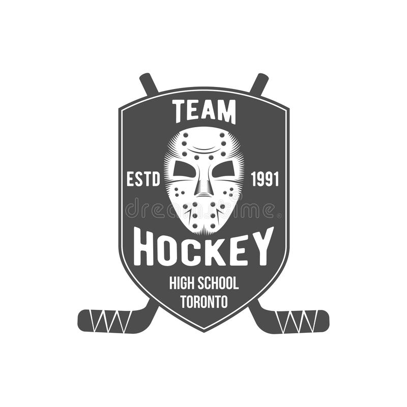 Hockeylogo-Ausweisgestaltungselemente stock abbildung