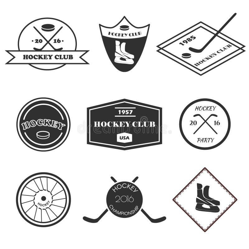 Hockeylogosatz vektor abbildung