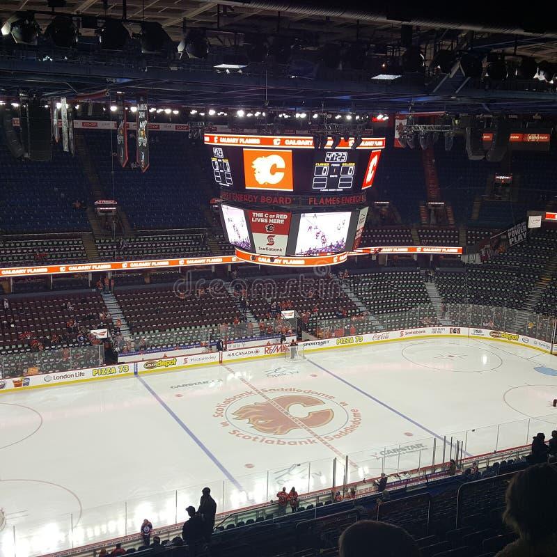 Hockeynatt i Kanada royaltyfria foton