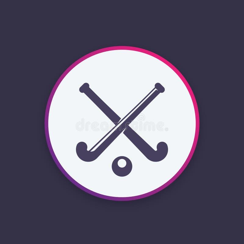 Hockeypictogram, vectorembleem royalty-vrije illustratie