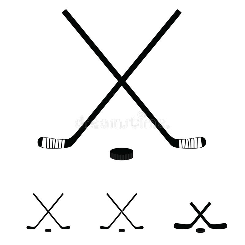 Hockeyschläger stellten Ikonenillustration ein vektor abbildung