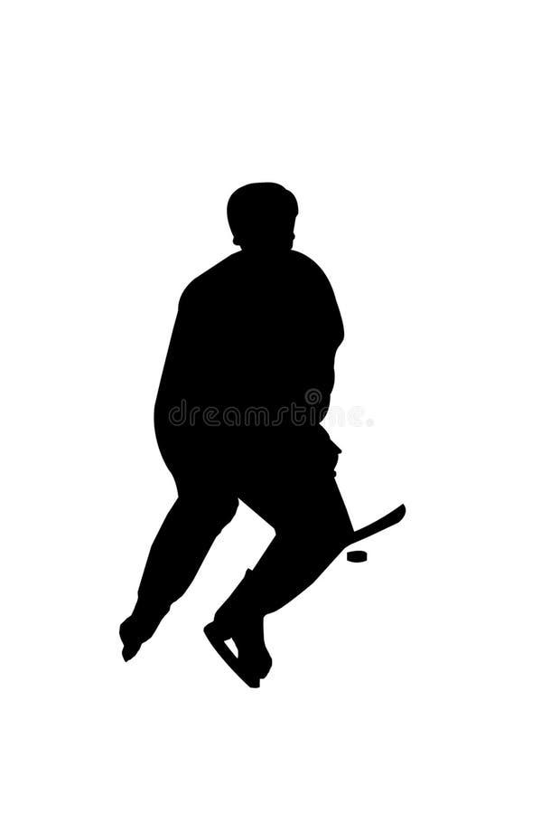 hockeysilohette vektor illustrationer