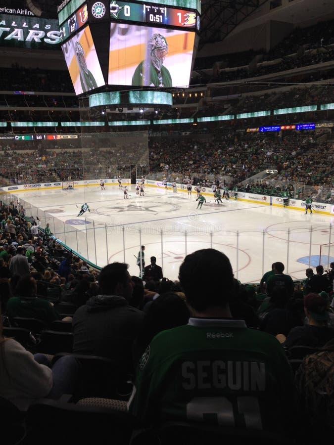 Hockeyspel stock foto