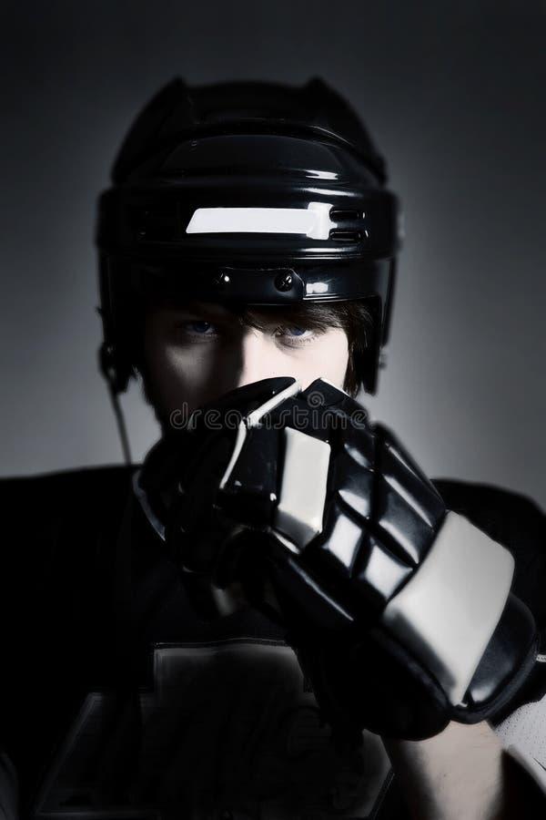 hockeyspelare royaltyfri bild