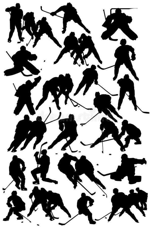 Hockeyspelare royaltyfri illustrationer