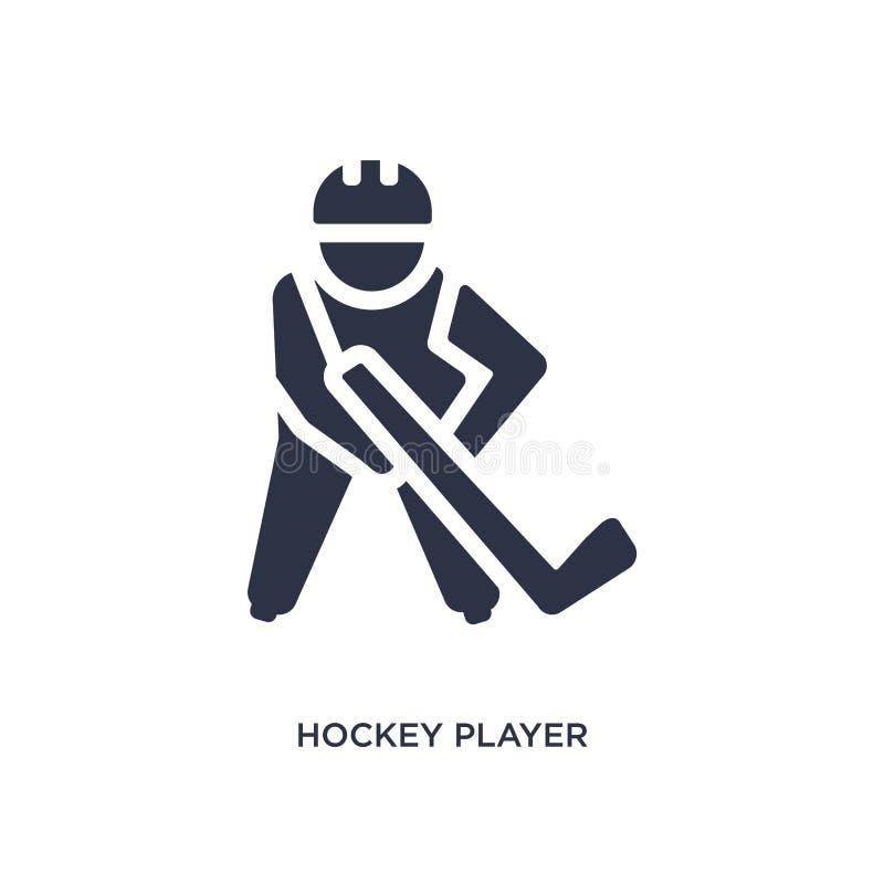 Hockeyspelaresymbol på vit bakgrund Enkel beståndsdelillustration från hockeybegrepp vektor illustrationer