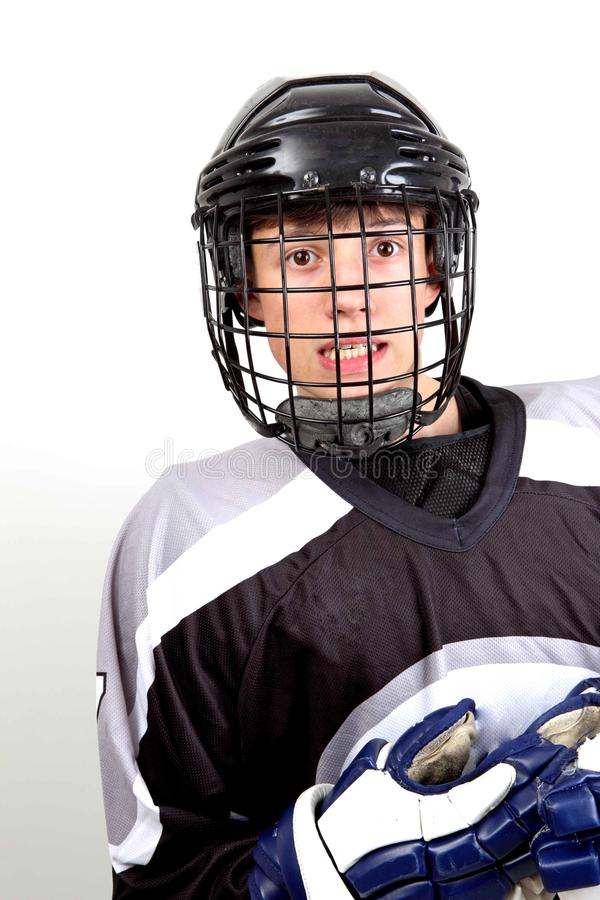 Hockeyspieler lizenzfreies stockbild