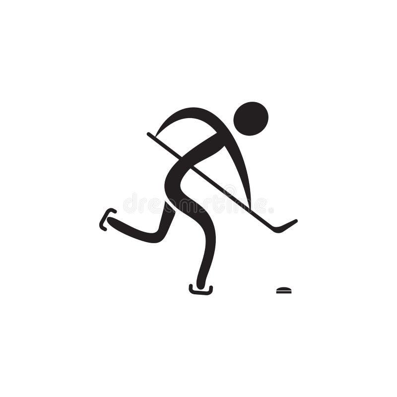 Hockeysymbol Beståndsdelar av idrottsmansymbolen Högvärdig kvalitets- symbol för grafisk design Tecken och symbolsamlingssymbol f royaltyfri illustrationer