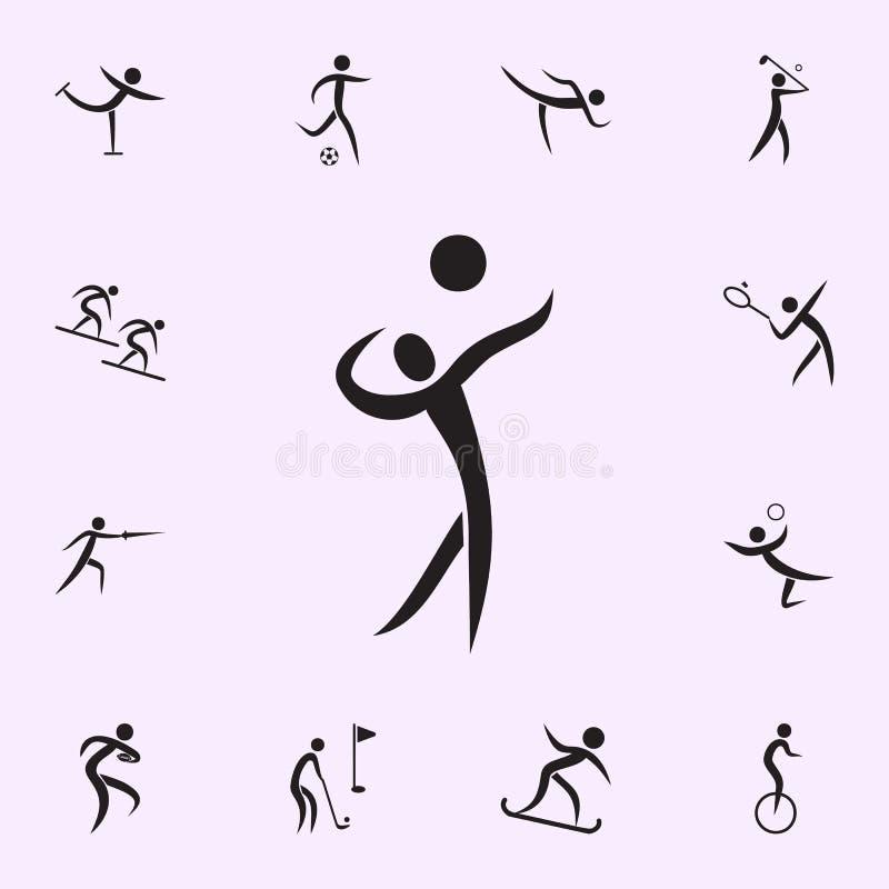 Hockeysymbol Best?ndsdelar av idrottsmansymbolen H?gv?rdig kvalitets- symbol f?r grafisk design Tecken och symbolsamlingssymbol f vektor illustrationer