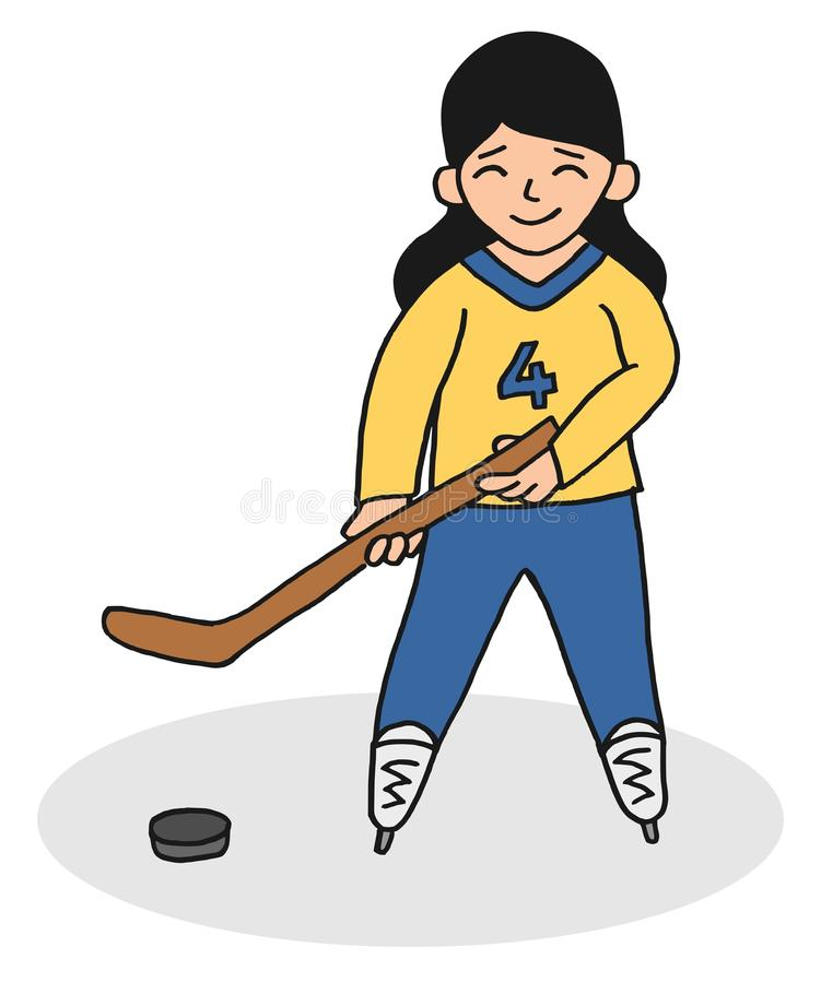 Hockeyunge vektor illustrationer