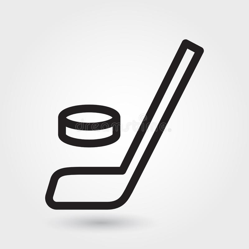Hockeyvektorikone, Hockeyschlägerikone, Hockeysportsymbol Moderner, einfacher Entwurf, Entwurfsvektorillustration stock abbildung