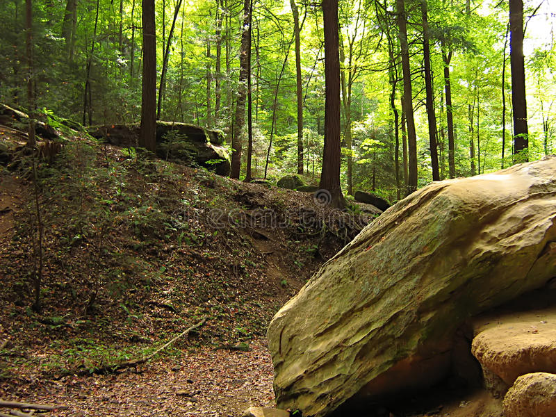 Hocking Hills Ohio. A photograph of Hocking Hills State Park located in the state of Ohio in the United States stock photography
