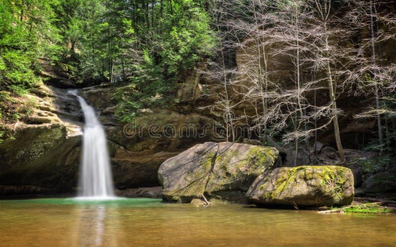 Hocking Hills Waterfall stock image