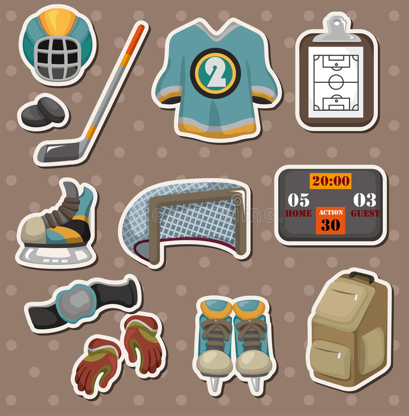 Download Hocky stickers stock vector. Image of icon, cute, puck - 26295008