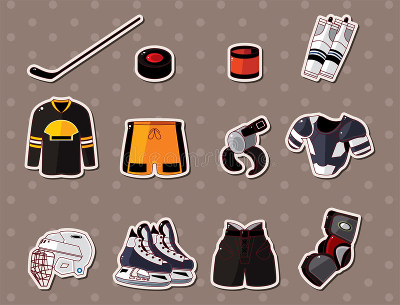 Hocky stickers royalty free illustration