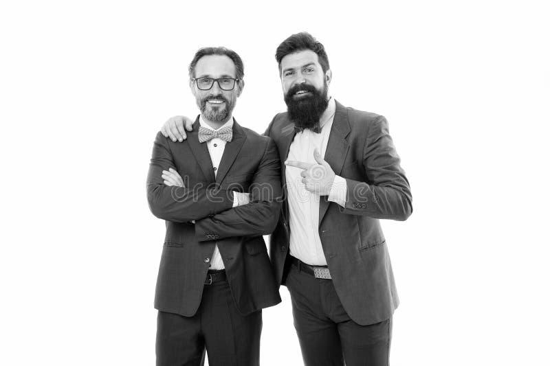 Hoe cool is hij? Succesvolle ondernemers witte achtergrond Zakelijk team Zakenconcept Mannen bemand royalty-vrije stock foto's