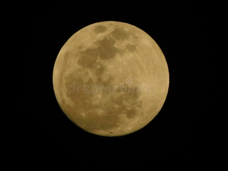 Hoe de Maan als kijkt stock foto