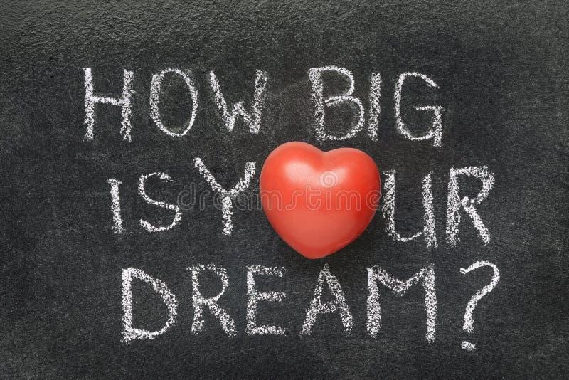 Hoe groot uw droom is stock afbeelding