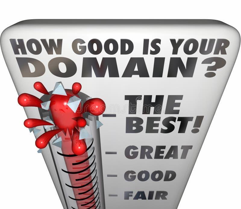 Hoe het Goed Uw Naam van de de Classificatiewebsite van de Domeinthermometer is stock illustratie