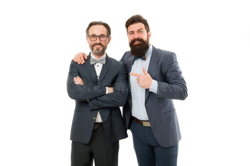 Hoe koel hij is Witte achtergrond van mensen de succesvolle ondernemers Commercieel team Bedrijfs mensenconcept Gebaarde mensen royalty-vrije stock foto